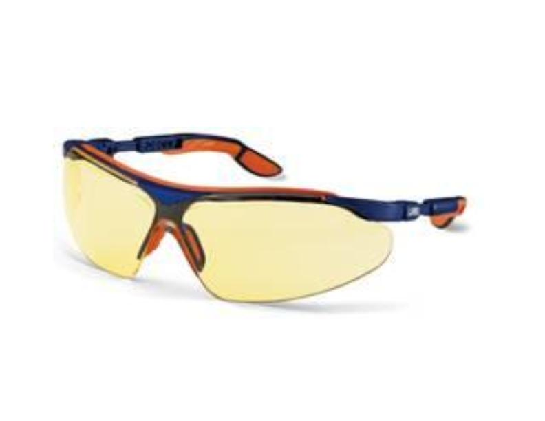 عینک ایمنی مدل i-vo لنز زرد رنگ برند Uvex